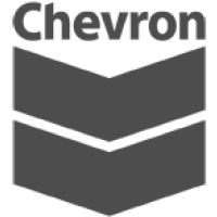 Chevron logo in black and white