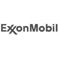 ExxonMobil logo in black and white
