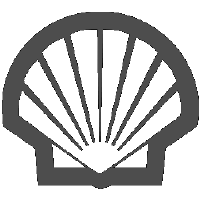 Shell logo in black and white