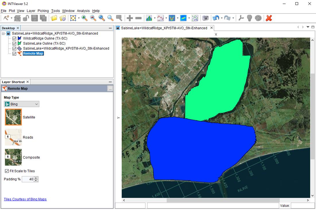 Overlaying Shape Files on Seismic Surveys | INT