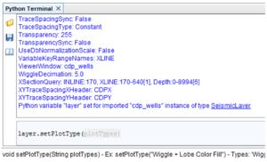 Python terminal plot type layer
