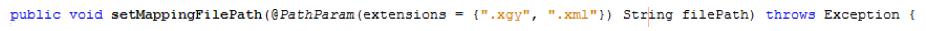 Python PathParam annotation