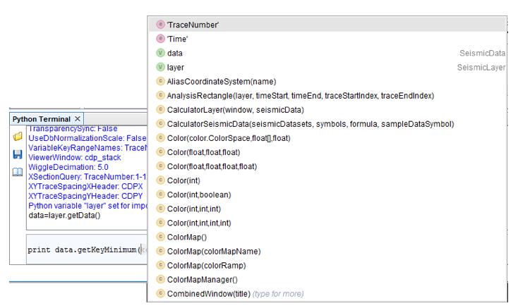 Python terminal - raw Segy dataset
