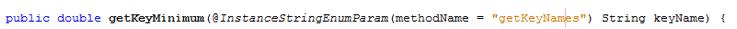 Python InstanceStringEnumParam annotation