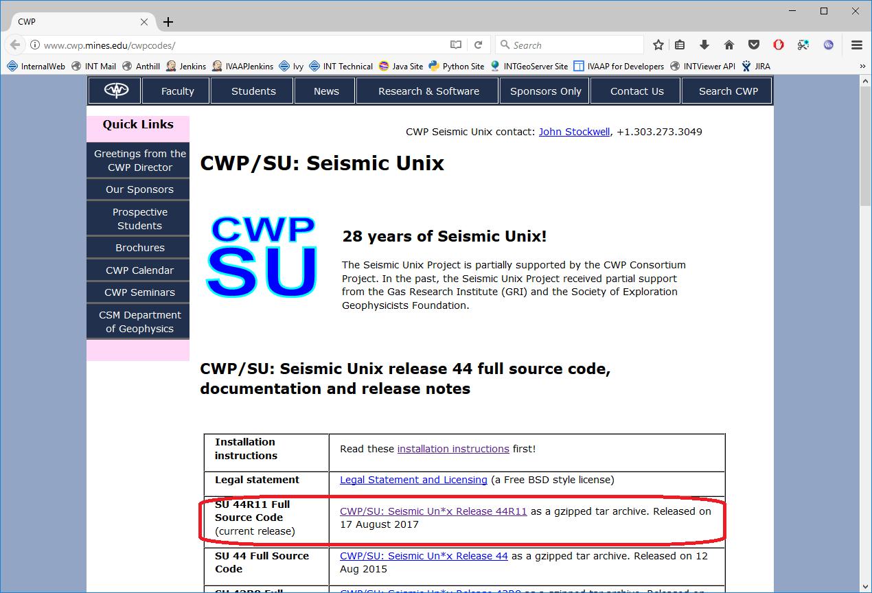 Installing the Seismic Unix Library on Windows [Walkthrough] | INT