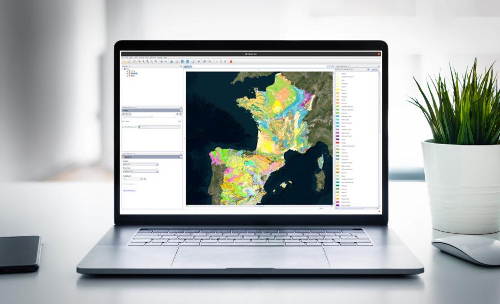 INTViewer Maps Laptop Screen