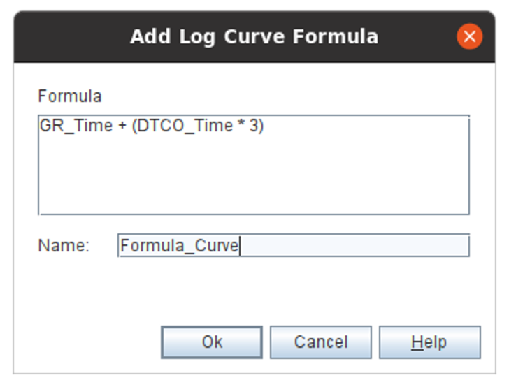 Log Curve Formula