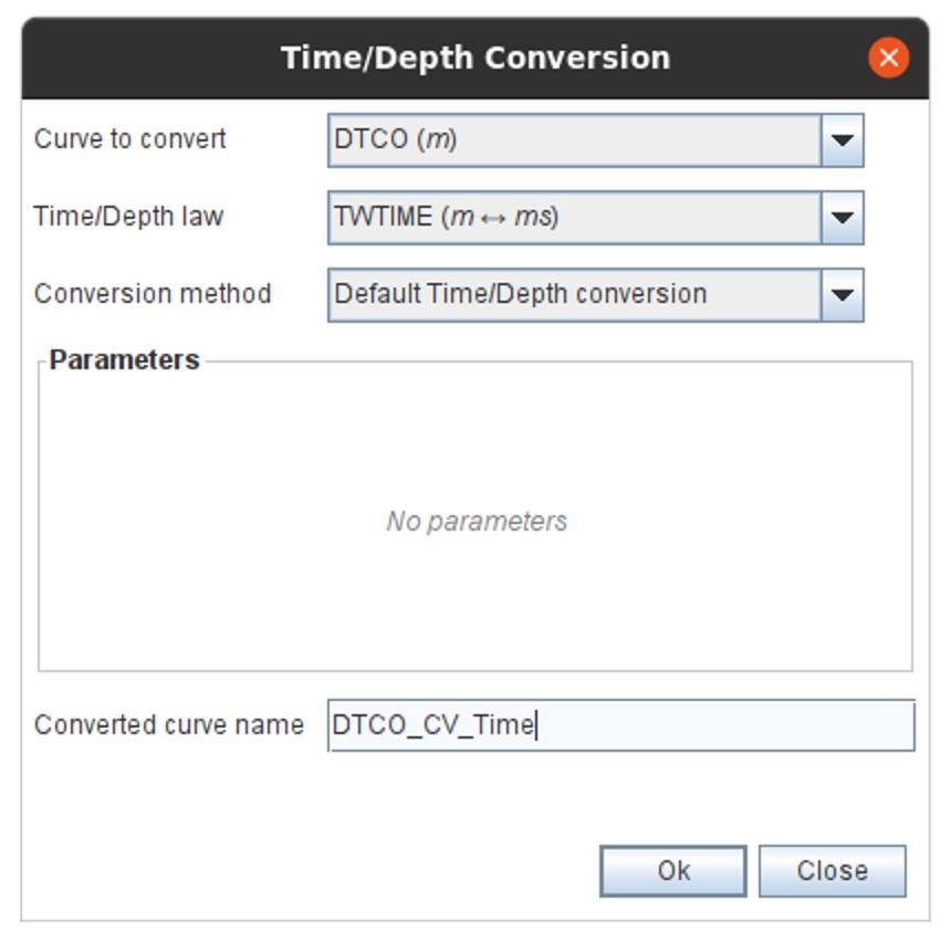 Time Depth Conversion