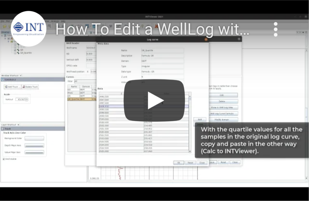 How to Edit a WellLog with INTViewer