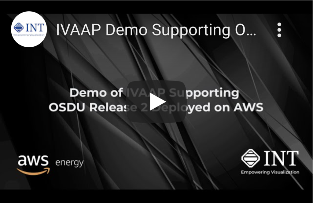 IVAAP Demo Supporting OSDU Release 2 Deployed on AWS