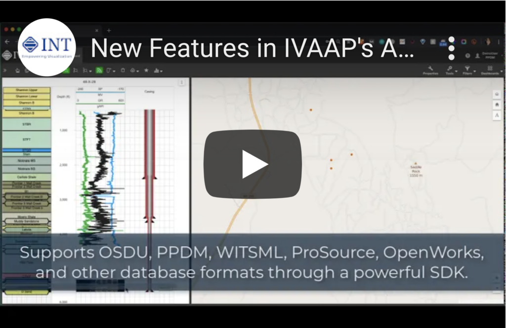 New Features in IVAAP's Advanced Upstream Data Visualization Platform