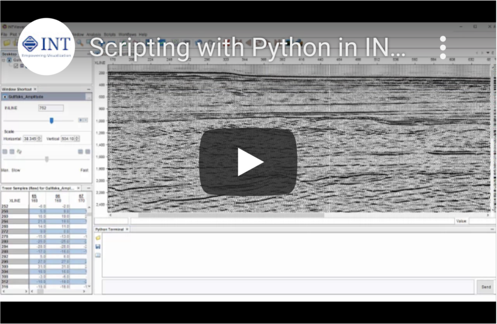 Scripting with Python in INTViewer